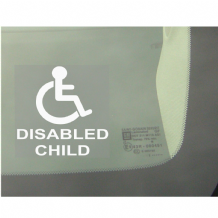 1 x Disabled Child Window Sticker for Car,Van,Truck,Vehicle.Disability,Mobility Self Adhesive Vinyl Sign Handicapped Logo